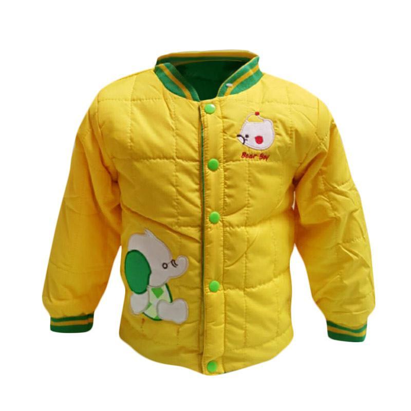 Chloe Babyshop F984 Bomber Bubble Bear Boy Long Sleeve Jaket Anak - Kuning