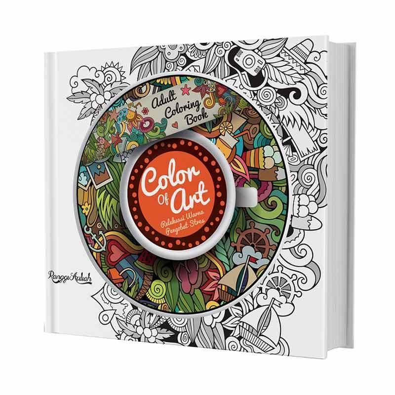 Jual Huta Paint Adult Coloring Book Color Of Art By Ranggi Ariliah