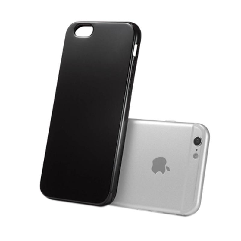 Royal Online Shop Ultra Thin Slim Hardback Casing for iPhone 6 or 6s Plus - Glossy Jetblack