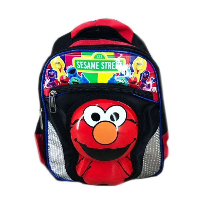harga Bravery Sesame Street Elmo 3D Boneka Emboss Gliter Tas Sekolah Troley Blibli.com