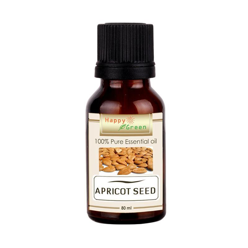 Happy Green Cosmetic Grade Apricot Kernel Oil Minyak Biji Aprikot [80 mL]