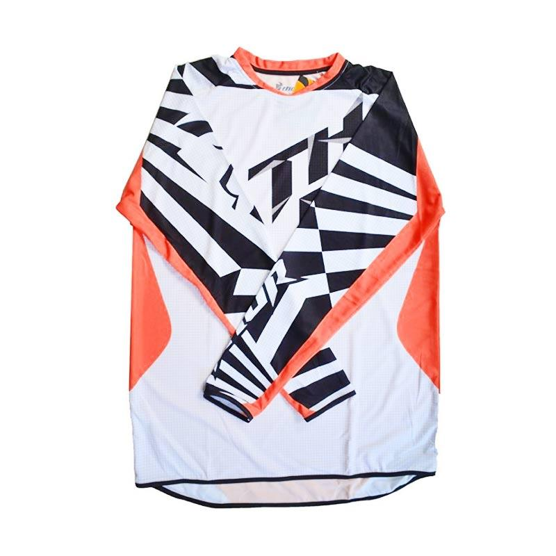 harga Raja Motor Model Thor Jersey Motocross Dewasa - Putih Orange Hitam Blibli.com