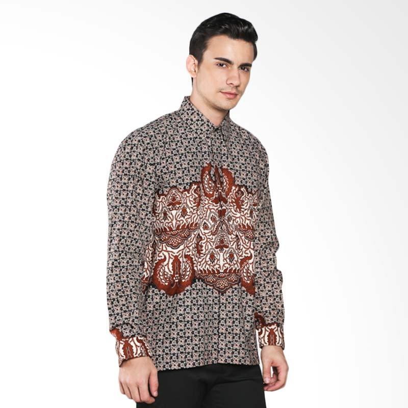 Batik Pria Tampan Ceplok Lar PKMPD-04081670P Men Long Sleeve Shirt - Teak
