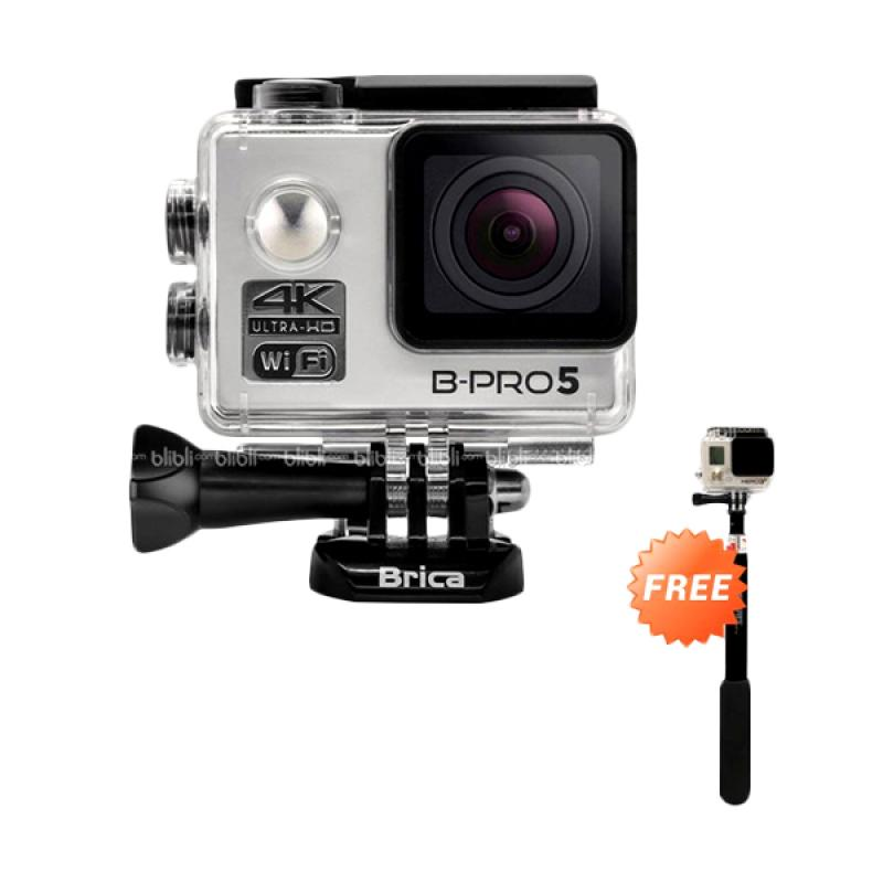 harga Brica B-PRO 5 Alpha Edition Version 2 Action Camera - Silver [4K/ WIFI/ AE2] + Free Tongsis Blibli.com