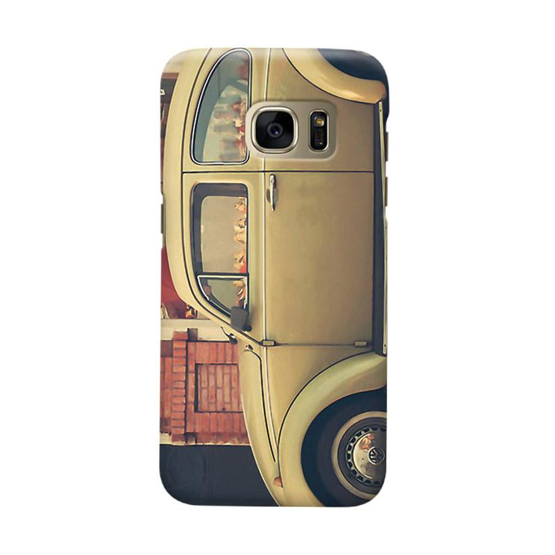 Indocustomcase Beige VW Cover Casing for Samsung Galaxy S6