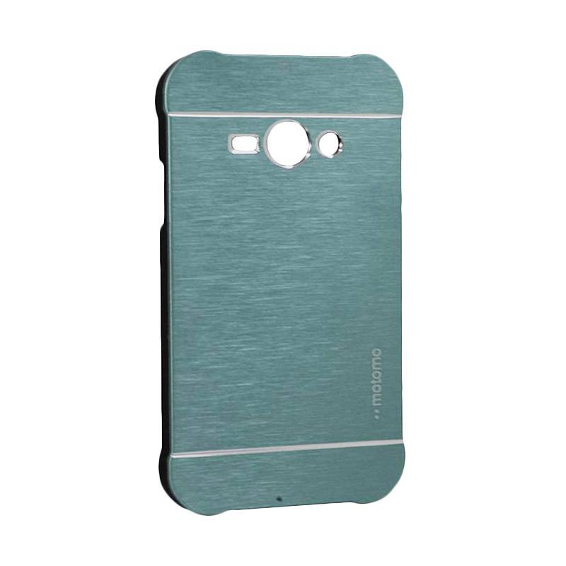 Motomo Metal Hardcase Backcase Casing for Samsung Galaxy J1 Ace or J110 - Dark Blue