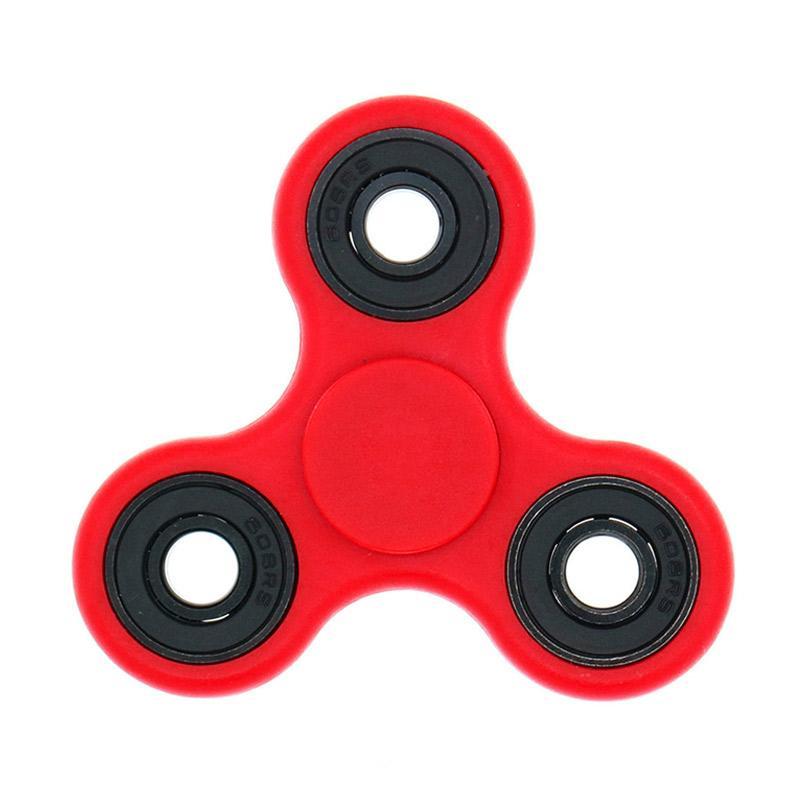 Berrisom Fidget Hybrid Black Ceramic Bearing Ball Spinner Hand Toys Focus Game - Merah