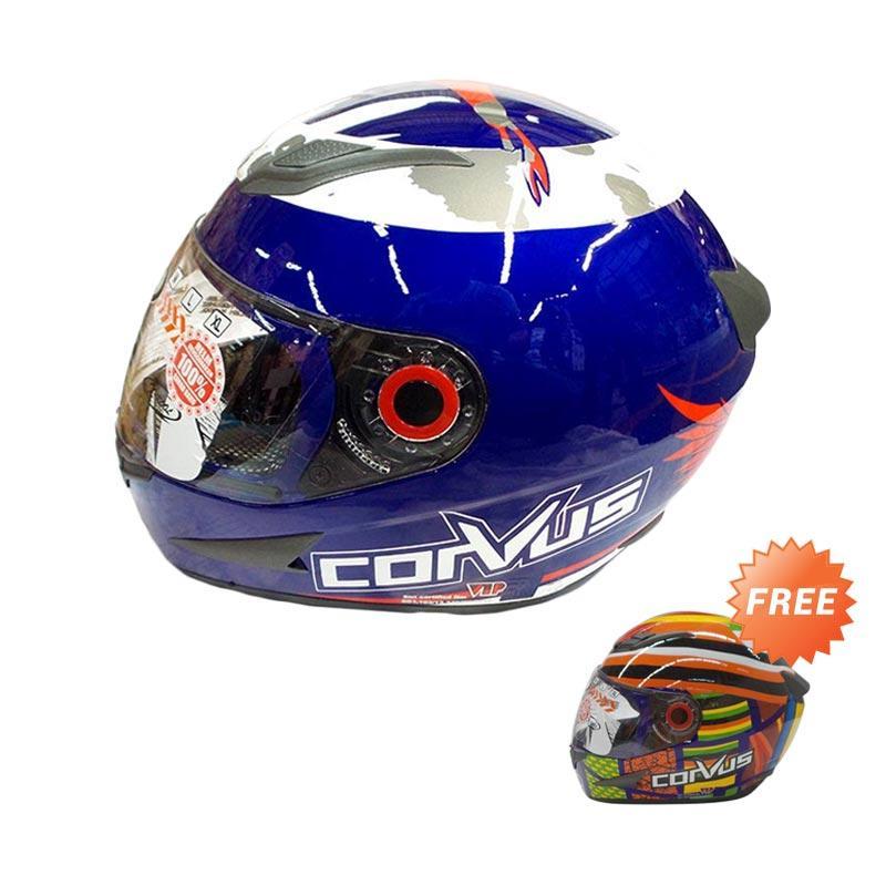 harga Promo Corvus 99 Helm Full Face - Blue Red [L] + Free Corvus 69 Helm Full Face - Blue L Blibli.com