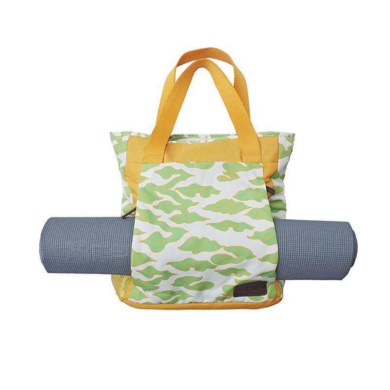 harga Nakula. Inc Yoga Mat Batik Exuberant Green on Off White Tote Bag - Hijau Blibli.com