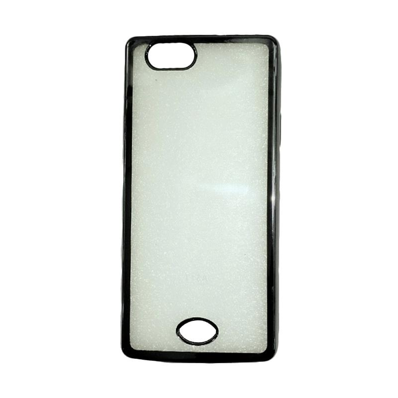 harga OEM Jelly Transparan Shiny Chrome List Softcase Casing for OPPO Neo 5 - Hitam Blibli.com