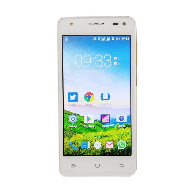Smartfren Andromax E2 Plus Smartphone - Putih Emas [16GB/ 2GB] + Free Kuota 100 GB