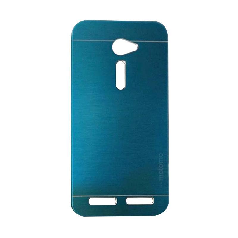 Motomo Metal Hardcase Backcase Casing for Asus Zenfone 2 ZE500CL 5.0 Inch - Dark Blue