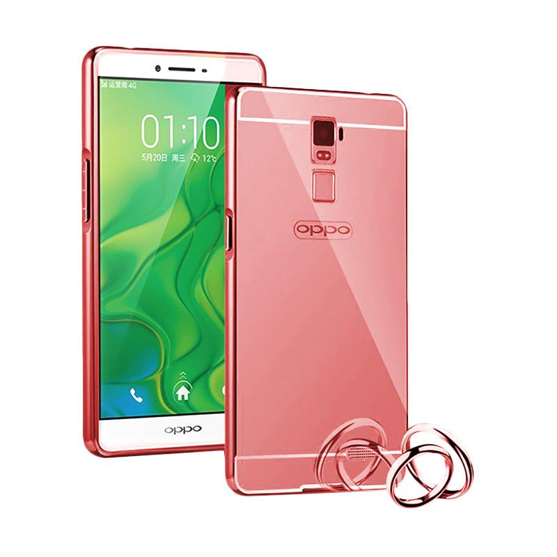harga Radical Bumper Chrome With Backcase Mirror Casing for R7 or R7 Lite - Rose Gold Blibli.com