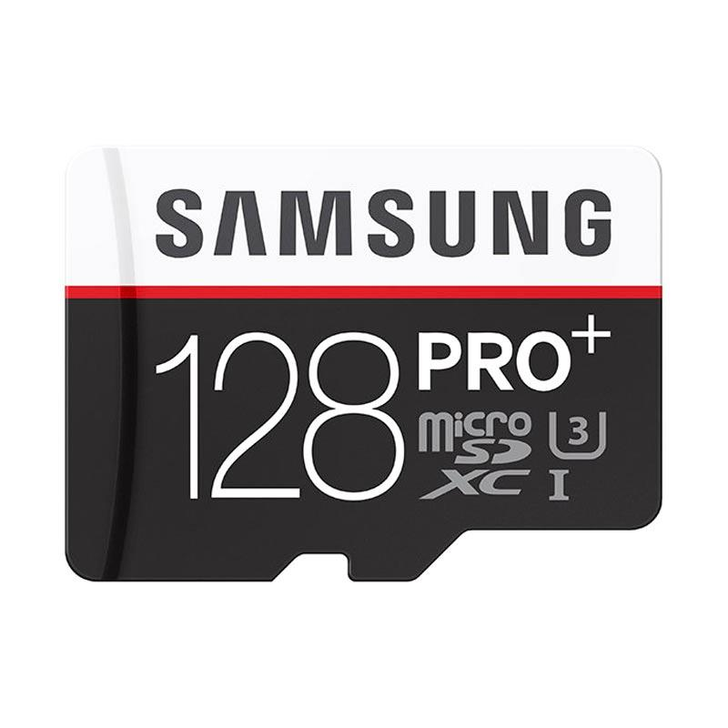 harga Samsung U3 Micro SD Pro+ Memory Card with Adapter [Write 95Mb/S/ Read 90Mb/S/ 128 GB] Blibli.com