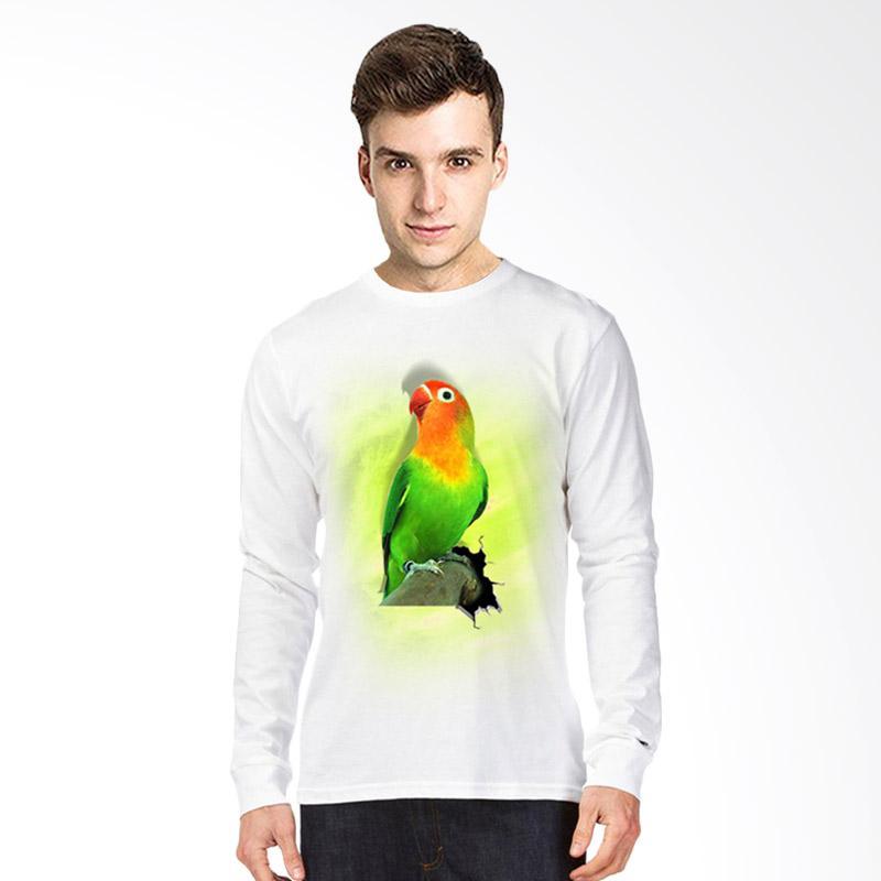 harga T-Shirt Glory 3D Burung Love Bird Kaos Lengan Panjang Pria - Putih Blibli.com