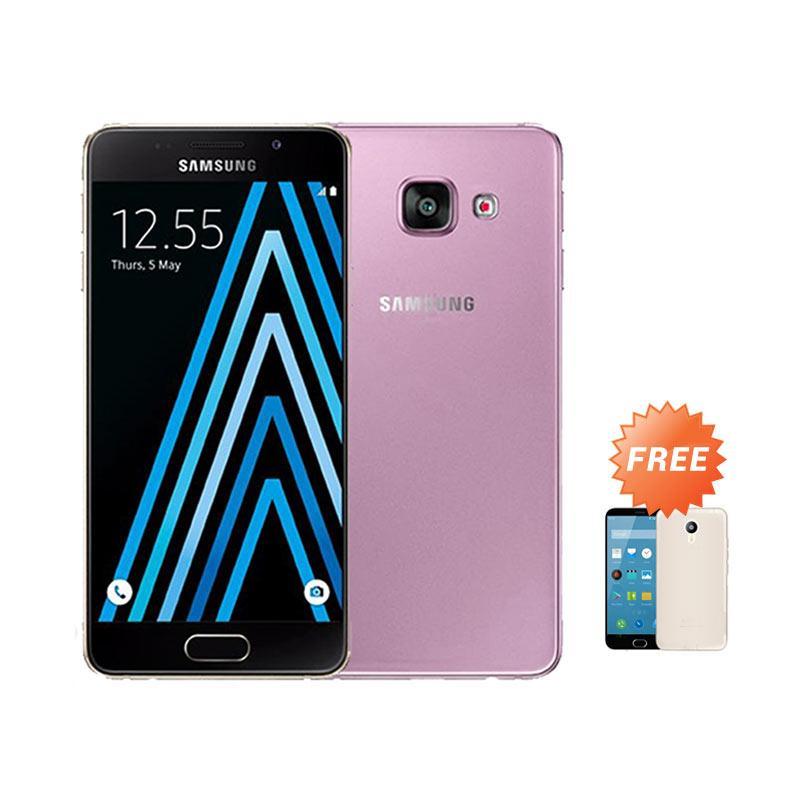 Ultrathin Casing for Samsung Galaxy A3 (2016) SM-A310F - Purple Clear + Free Ultra thin