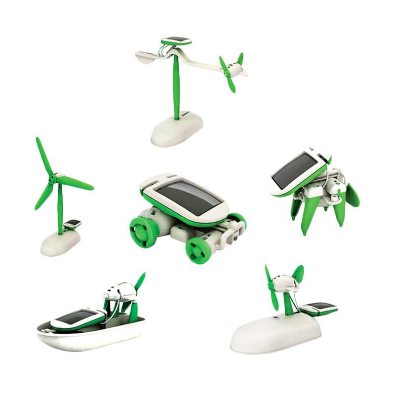 MOS DIY Solar Kit 6 in 1 Mainan Edukatif Anak Bentuk Robot Tenaga Surya