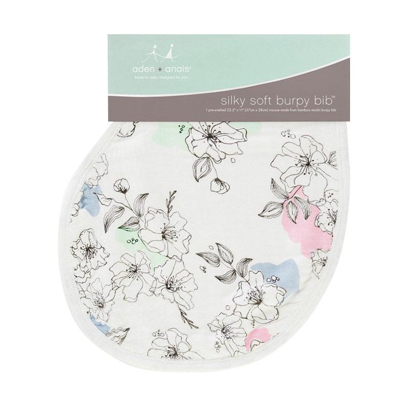 Aden+anais Meadowlark Single Silky Soft Burpy Bib  Alas Tidur Bayi