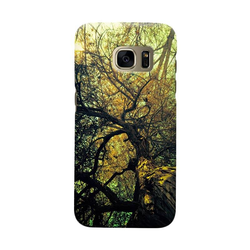 Indocustomcase Tree Cover Casing for Samsung Galaxy S6 Edge