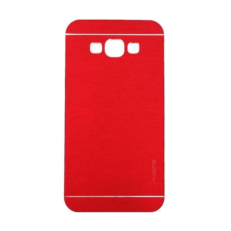 Motomo Metal Backcase Hardcase Casing for Samsung Galaxy J2 Prime or G532M - Red