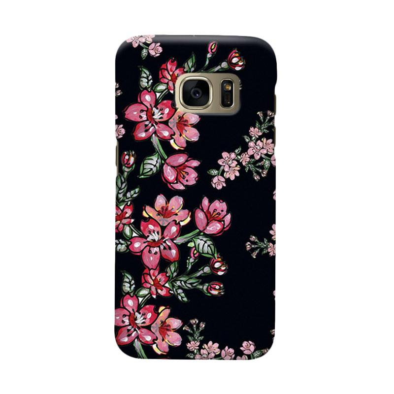 Indocustomcase Flower Elsa Cover Casing for Samsung Galaxy S7