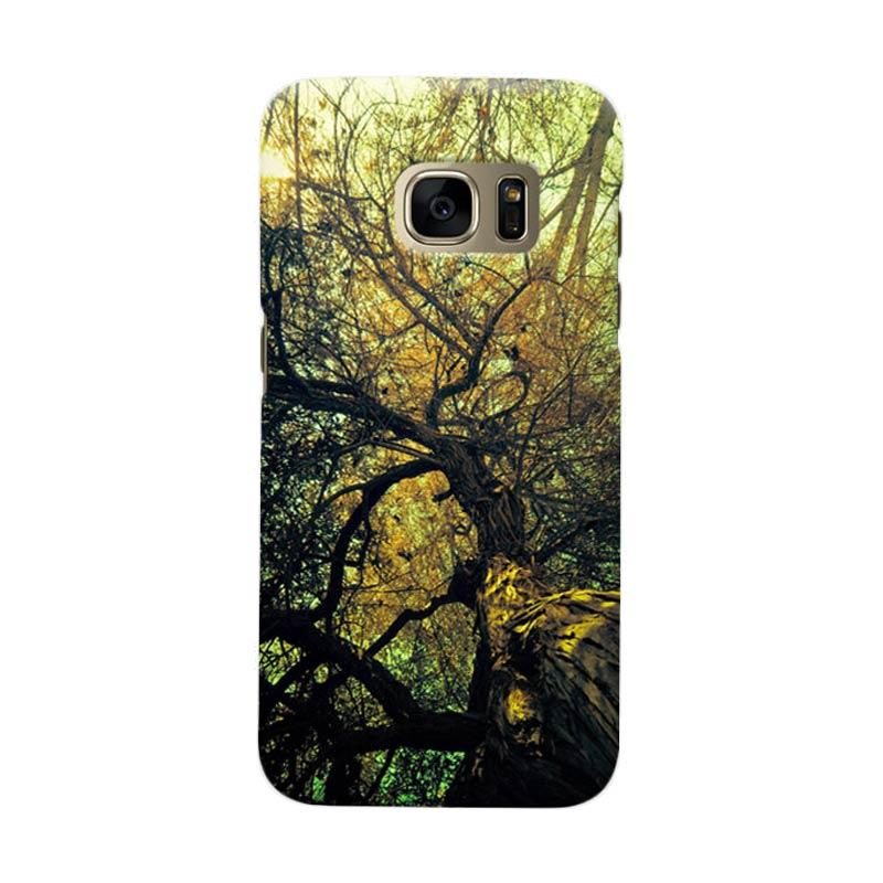 Indocustomcase Tree Cover Hardcase Casing for Samsung Galaxy S7 Edge