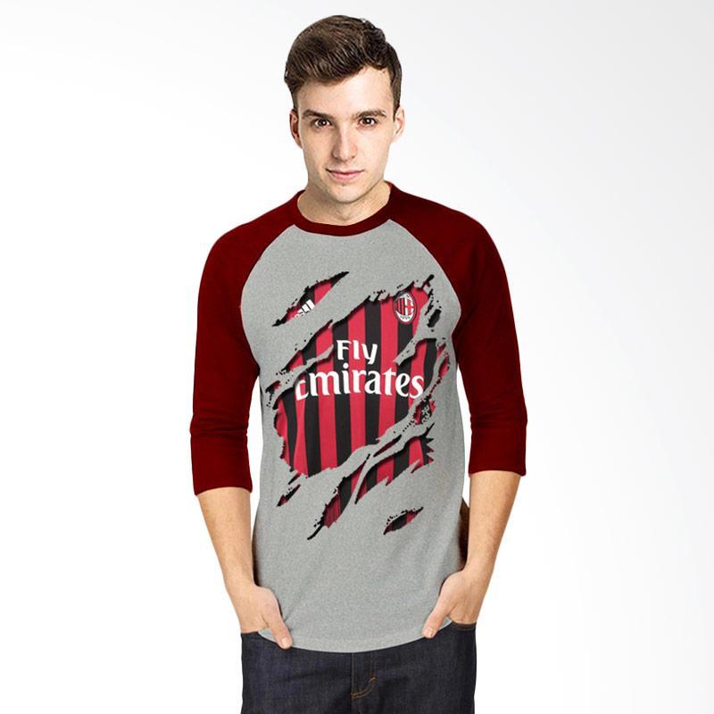 harga T-Shirt Glory Kaos 3D Ac Milan Jersey Raglan Atasan Pria - Abu Maroon Blibli.com