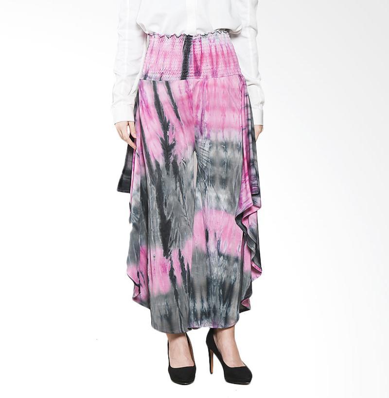Aira Muslim Butik Tie Dye Bat Pants AB.B-003 Bawahan Muslim - Pink Black