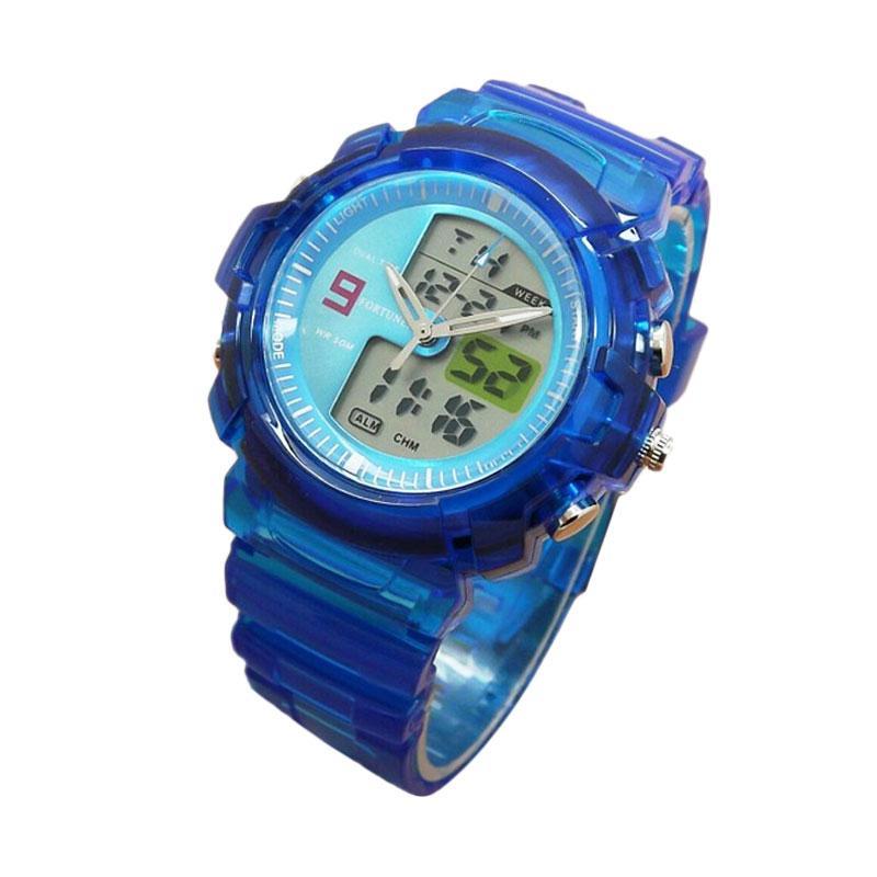 Fortuner FR J-509AD Dualtime Jam Tangan Sport Wanita - Blue