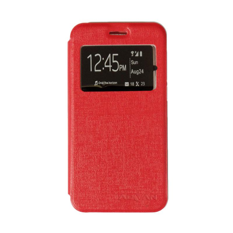 Advan Flipshell Flipcase Flip Cover Window Casing for Advan Vandroid i5e - Merah