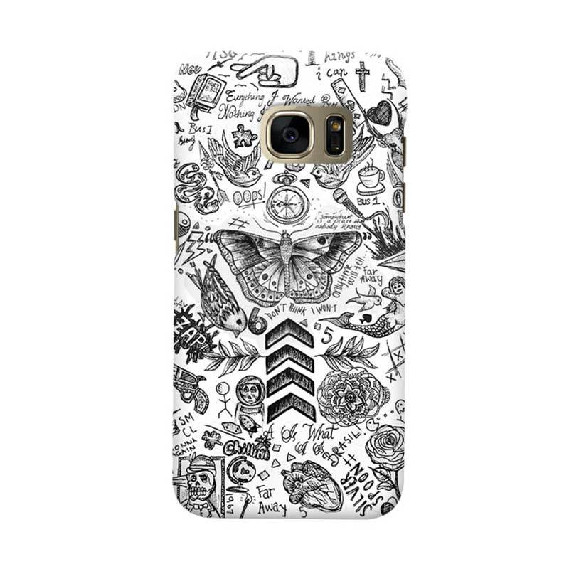 Indocustomcase Tattoo Cover Casing for Samsung Galaxy S6