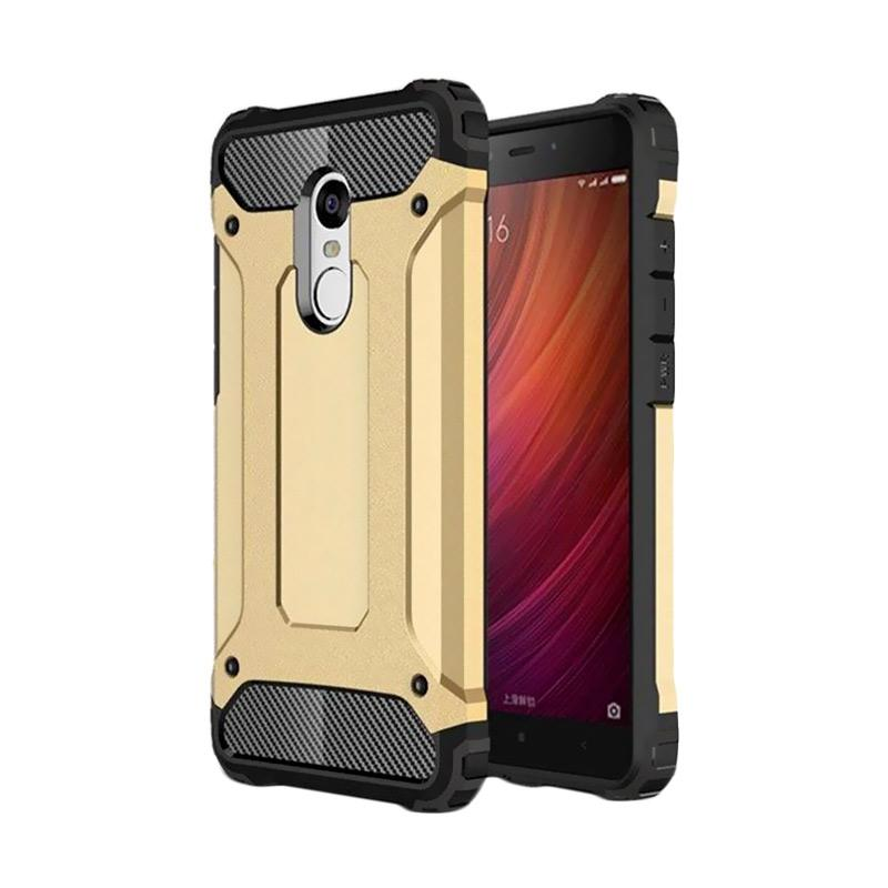 OEM Transformers Iron Robot Hardcase Casing for Xiaomi Redmi Note 3 - Gold