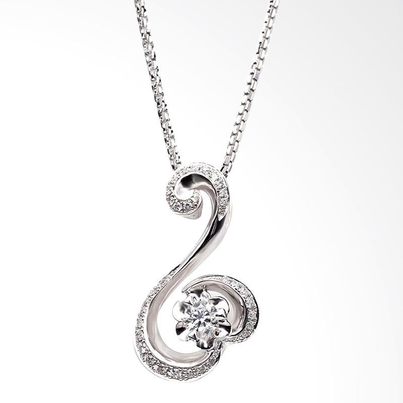 Tiaria DJXDZ010 Jewelry Pendant Emas Putih Dan Zircon Perhiasan Liontin [9K]