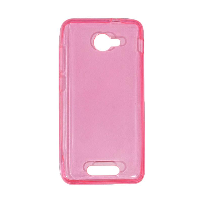 VR Ultrathin Silicone Jelly Softcase Casing for Smartfren Andromax B - Pink