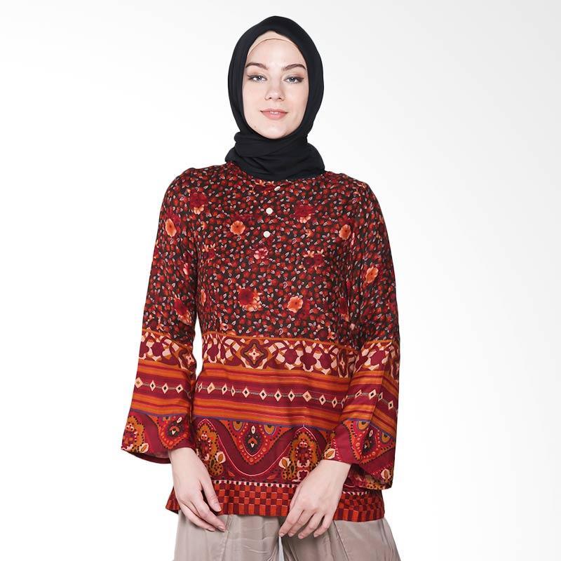 Aira muslim Butik AB.T.010 Anastasya Blouse Atasan Muslim - Maroon