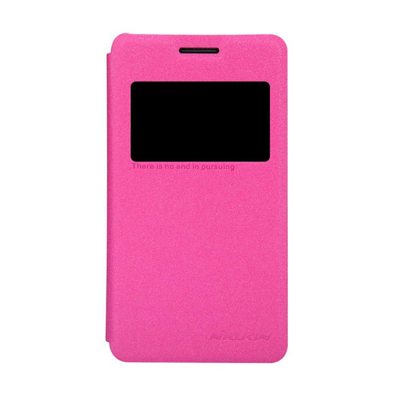 Nillkin Sparkle Leathercase Flip Cover Original for Sony Xperia E1 - Pink
