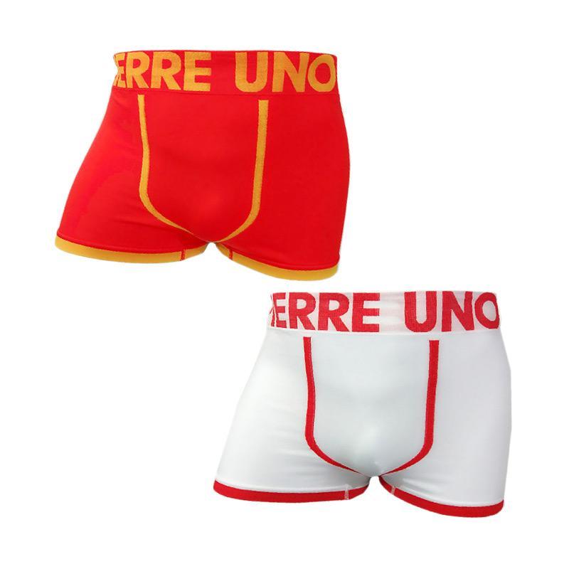 harga Pierre Uno Seamless Boxer Briefs 012 Celana Dalam Pria - Merah Putih [2 Pcs] Blibli.com
