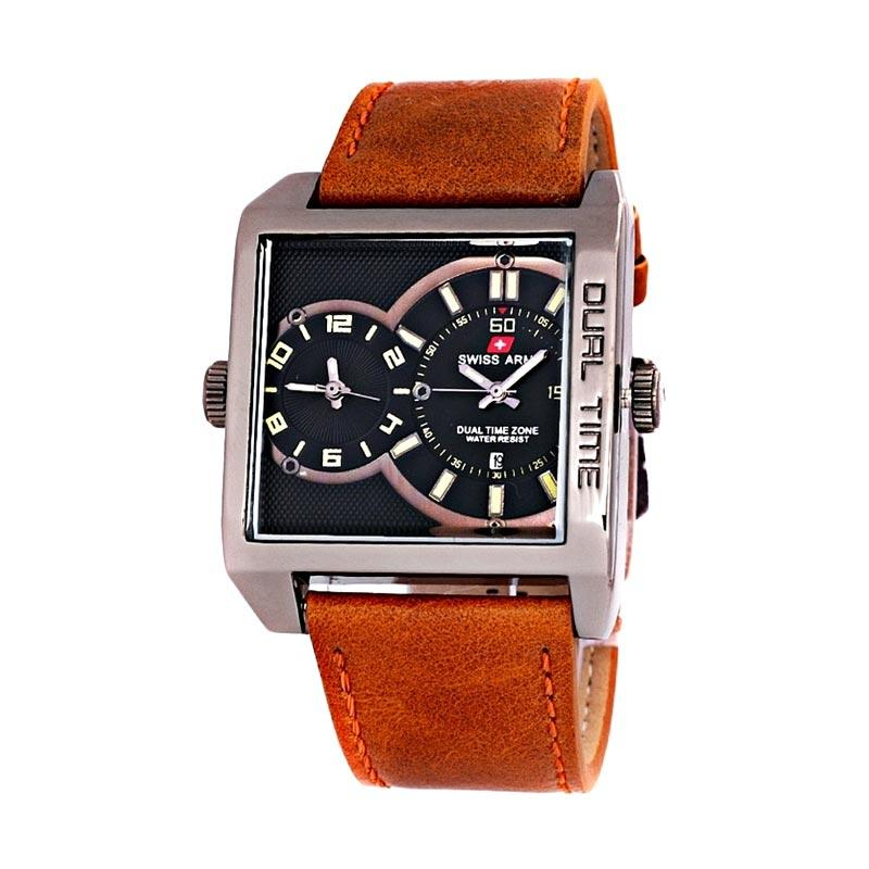 Swiss Army Dual Time SA0440M Jam Tangan Pria - Lark Brown