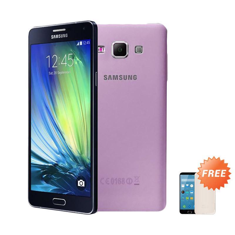 Ultrathin Casing for Samsung Galaxy A7 2016 SM-A710F - Purple Clear + Free Ultra thin