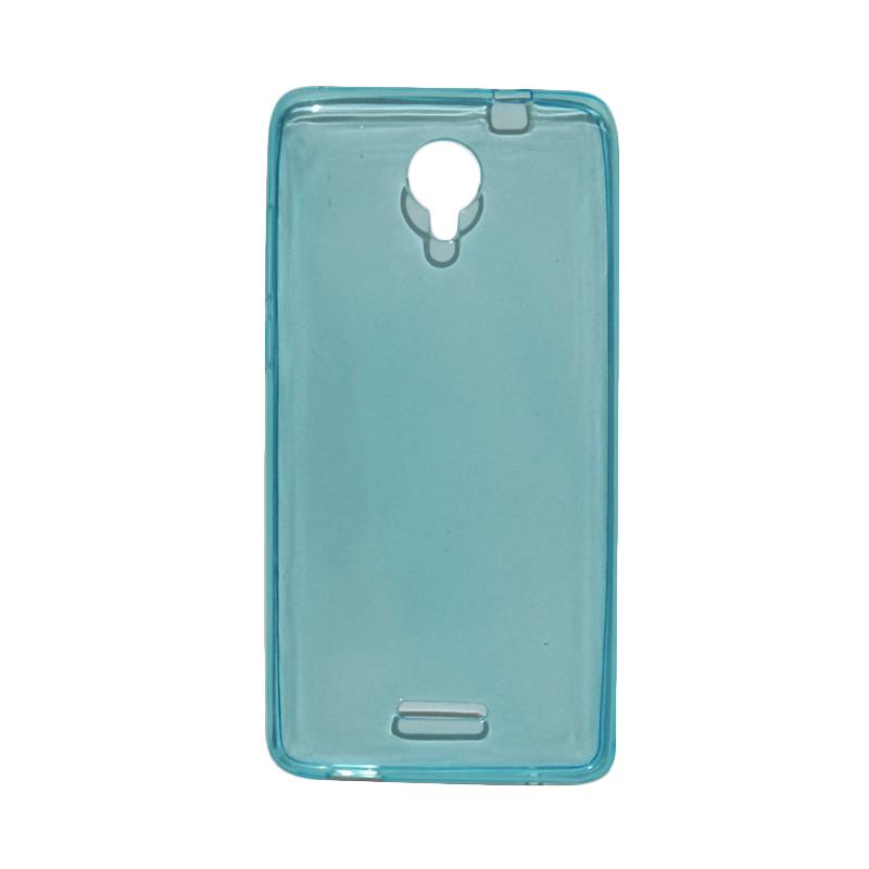 VR Ultrathin Silicone Jelly Softcase Casing for Smartfren Andromax L - Blue