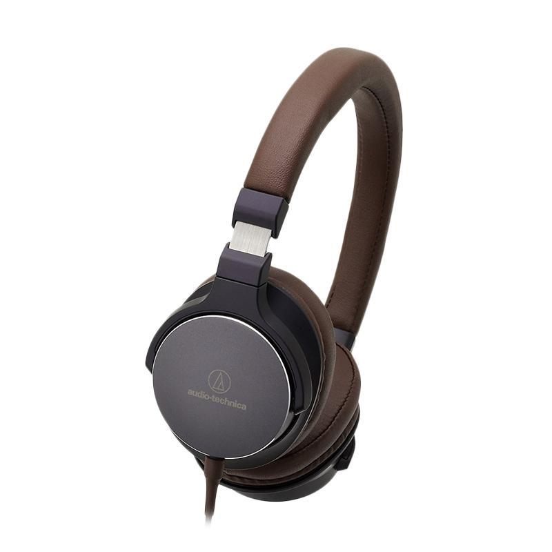 Audio Technica ATH-SR5 On-Ear High Resolution Audio Headphones - Brown