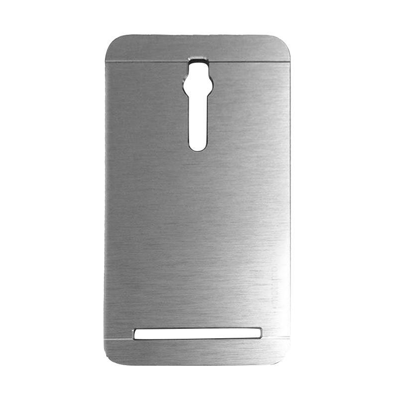 Motomo Metal Hardcase Backcase Casing for Asus Zenfone 2 ZE551ML 5.5 Inch - Silver