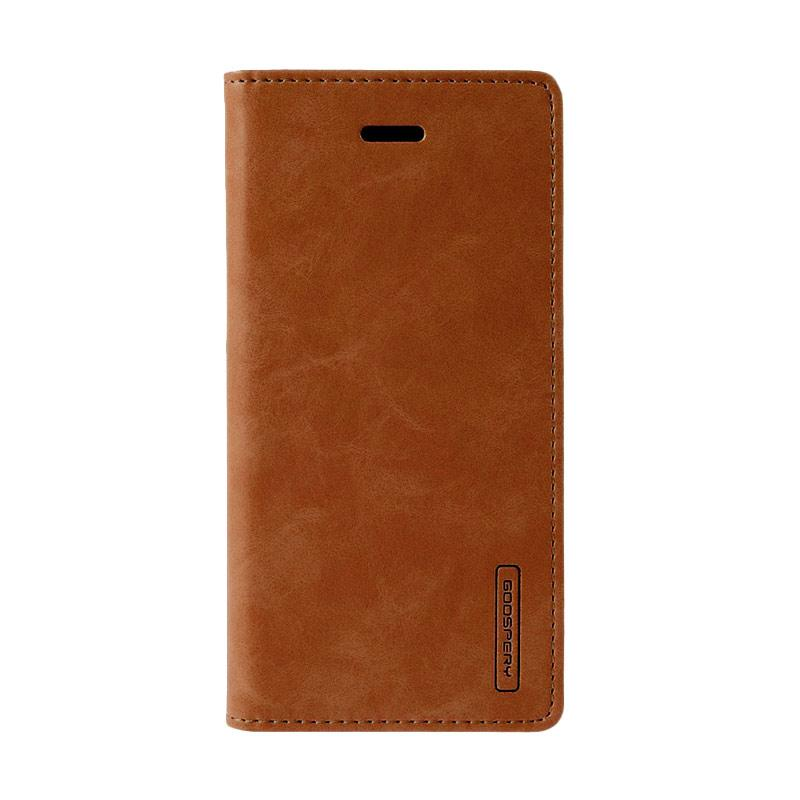 Goospery Mercury Bluemoon Flip Cover Casing for iPhone 6 5.5 inch - Coklat