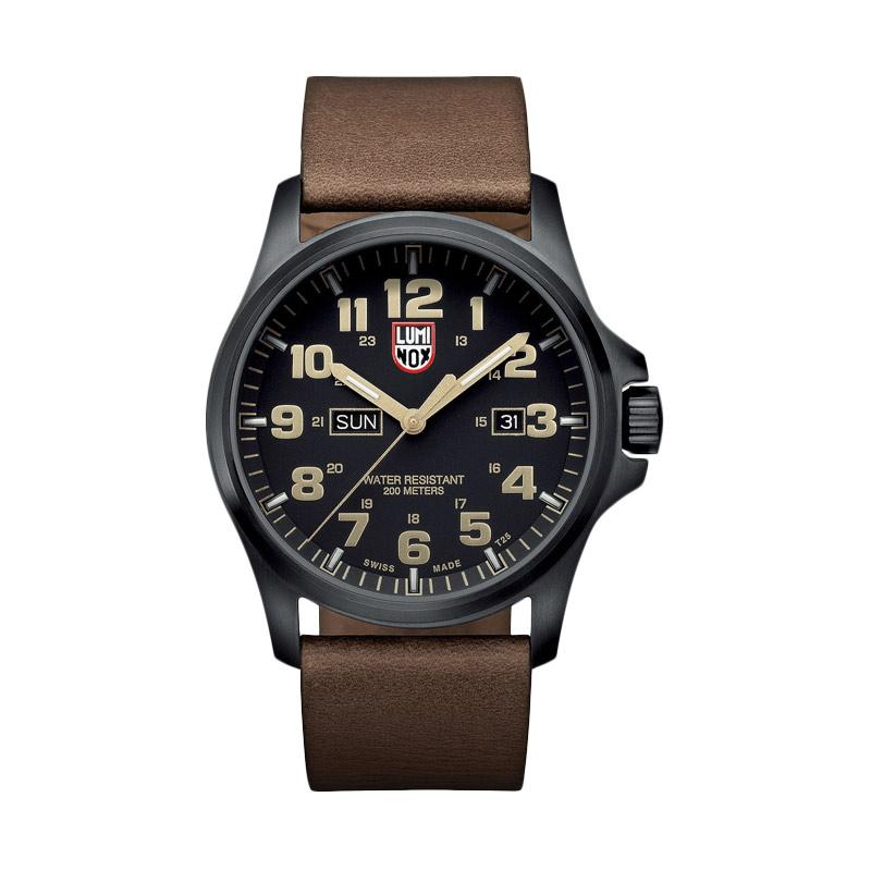 Luminox Atacama Field Day Date 1920 Series Leather Jam Tangan Pria - Brown Black 1929