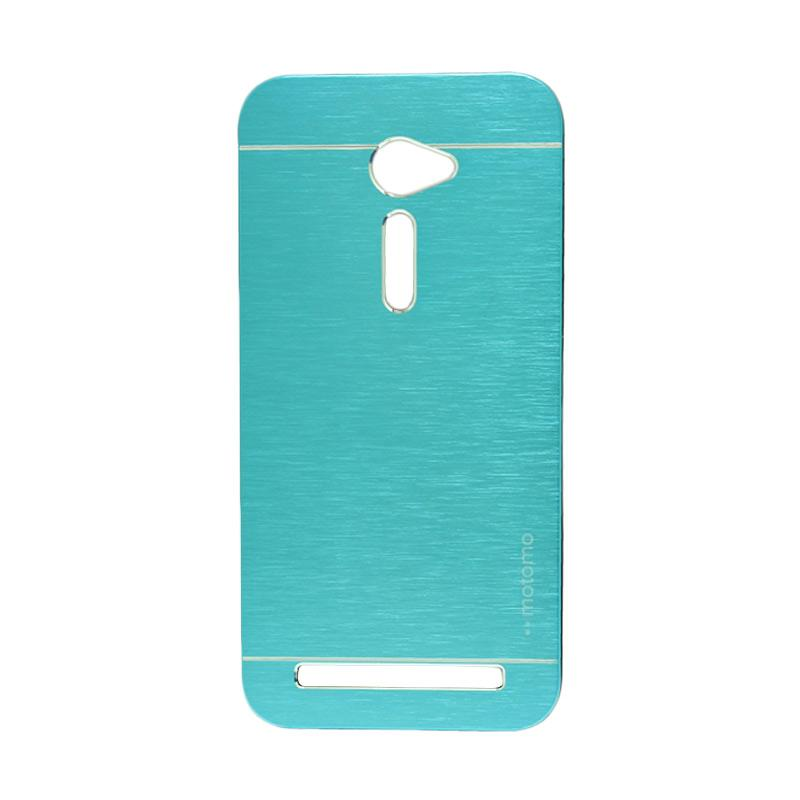 Motomo Metal Hardcase Backcase Casing for Asus Zenfone 2 ZE500CL 5.0 Inch - Sky Blue