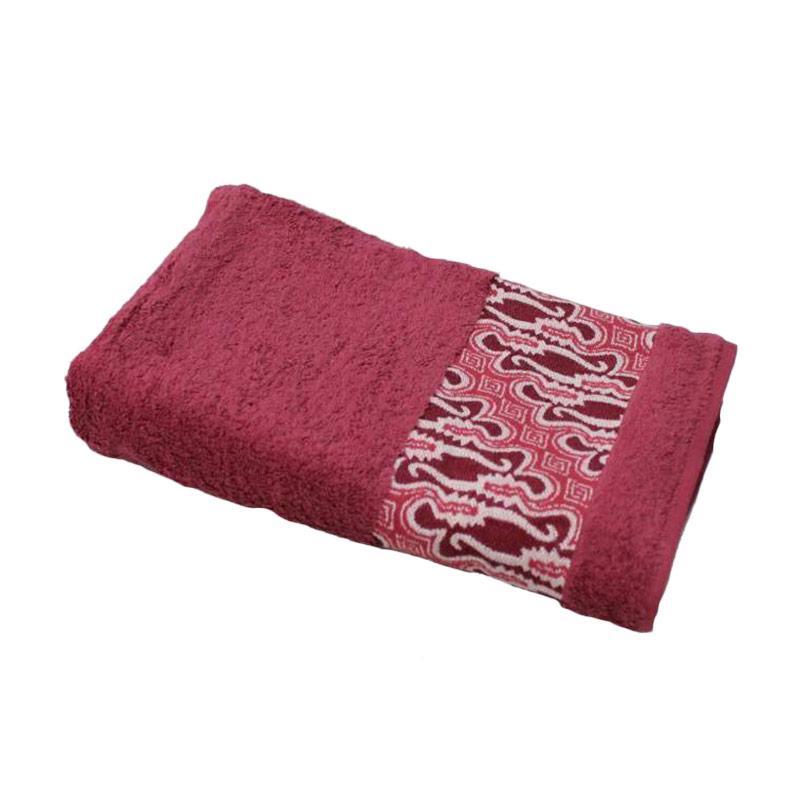harga Terry Palmer Premium Motif Batik Barong Handuk Mandi - Maroon [70 x 140 cm] Blibli.com