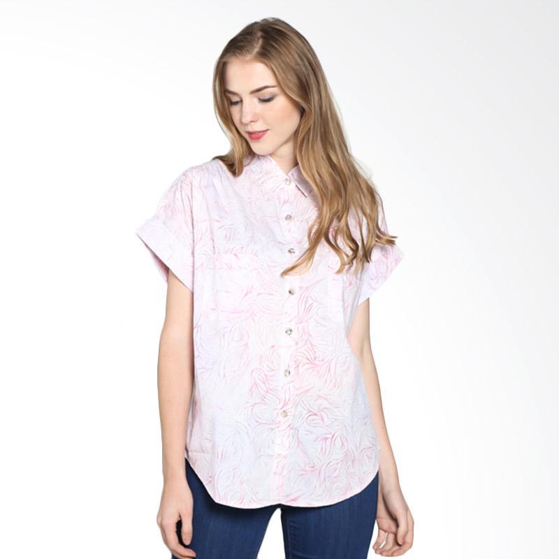 Batik Pria Tampan Wblpd-04081605c Women Actin Shirt Atasan Wanita - Blush