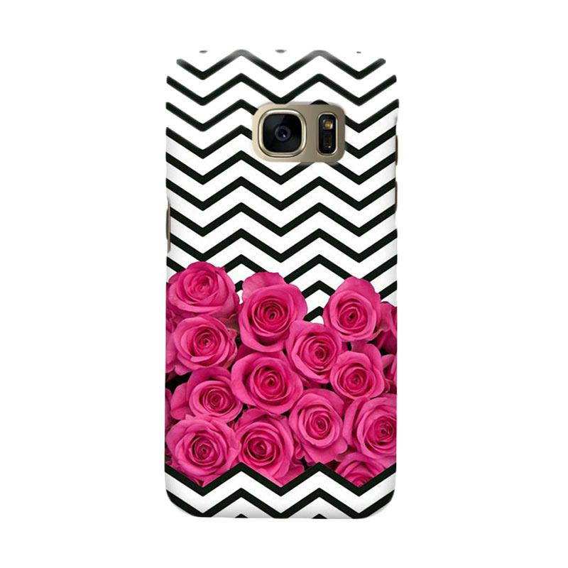 Indocustomcase Rose Casing for Samsung Galaxy S6 Edge