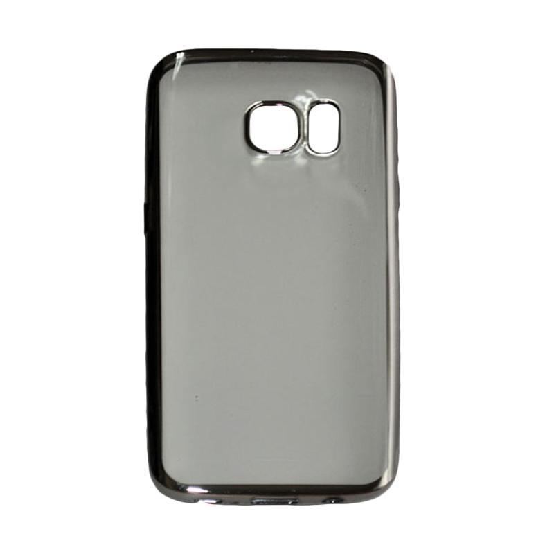 OEM Ultrathin TPU Shining Chrome Casing for Samsung Galaxy Note 7 - Drak Grey