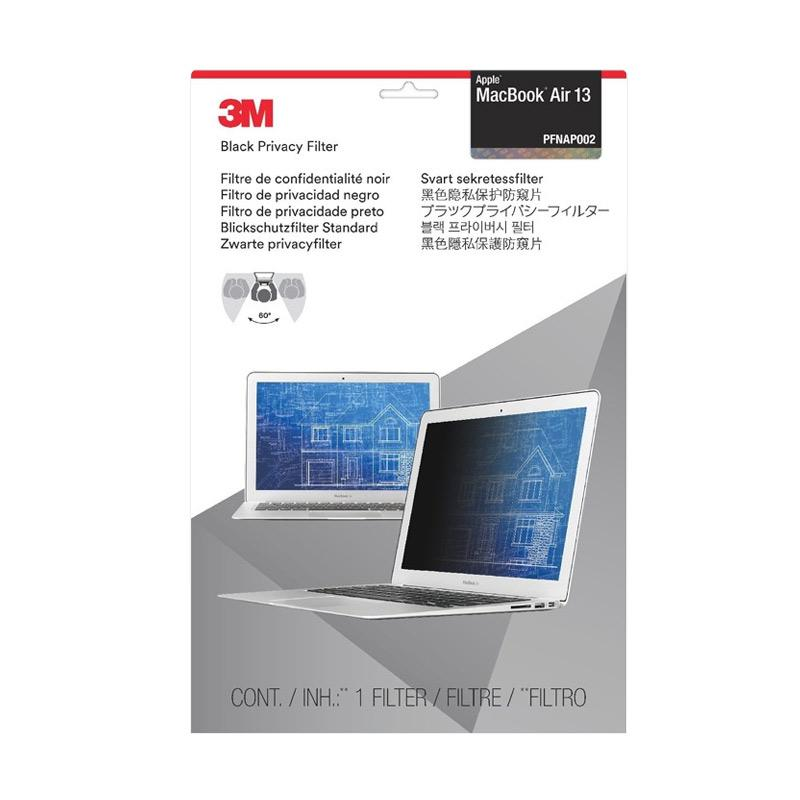 harga 3M PFNAP002 Privacy Filter for Apple MacBook Air 13 inch - Black Blibli.com